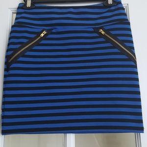 Xhilaration blue & black stripe skirt